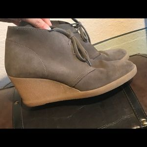 J.CREW Factory Suede Lace-up Wedge Boots (Women)